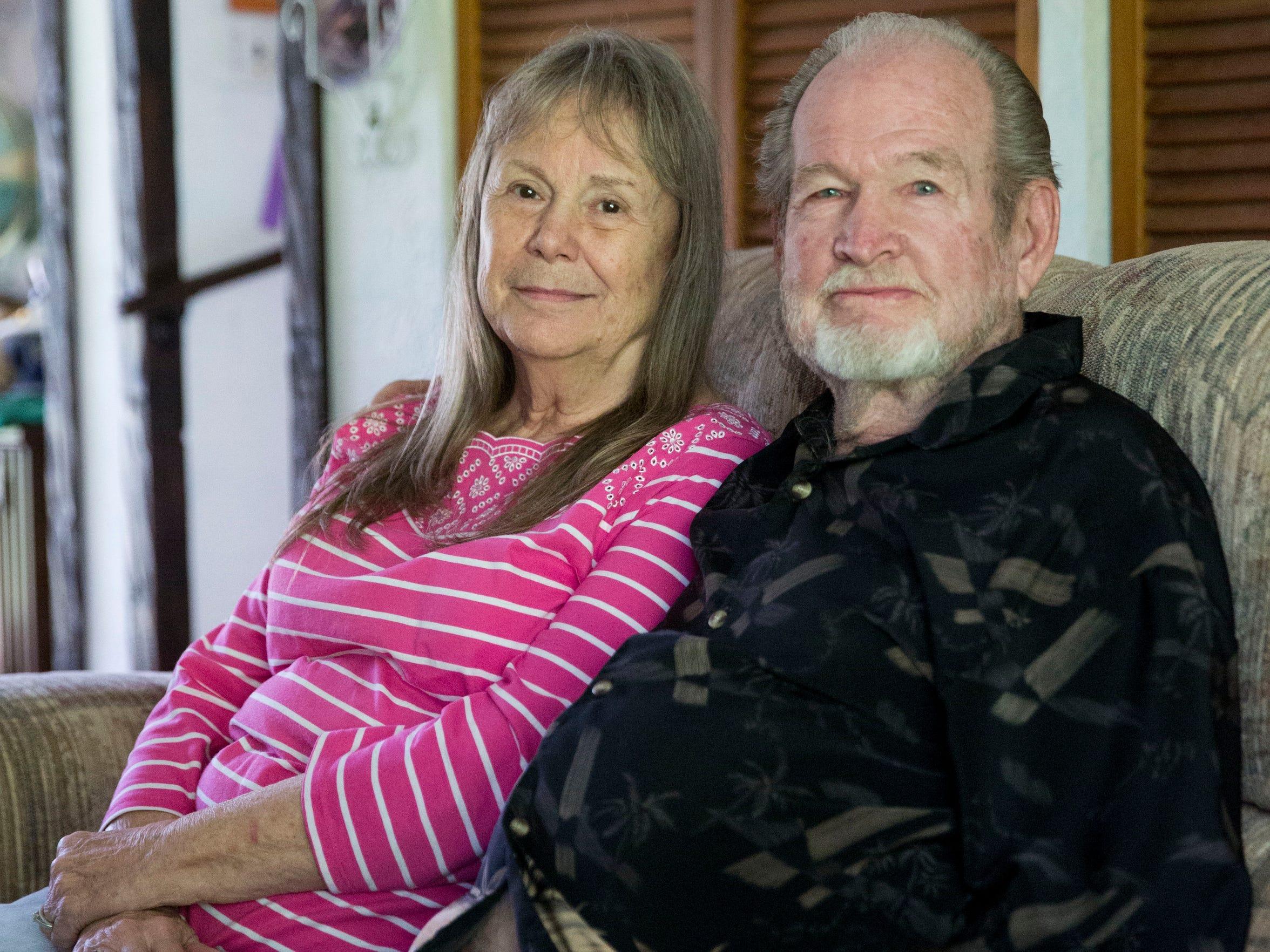Earlene Calloway, 77, and her husband Bill Bearden,