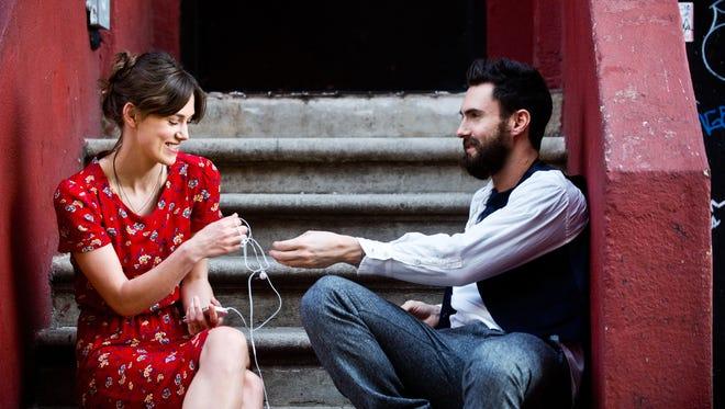 "Keira Knightley and Adam Levine star in ""Begin Again."""