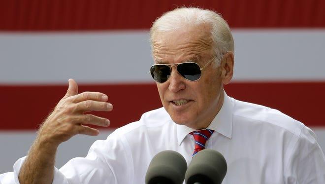 Vice President Biden speaks in Tampa on Nov. 2, 2016.