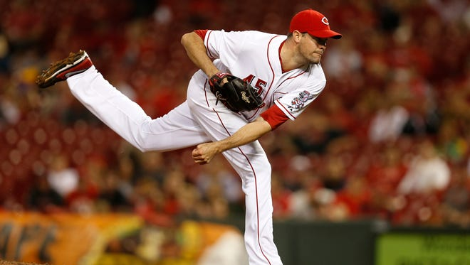 Cincinnati Reds relief pitcher Sean Marshall (45) will undergo season-ending shoulder surgery Wednesday.