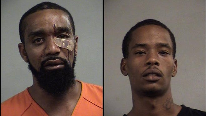 Terrence Morgan, left, and Christopher Morgan, right, are accused of breaking into a Shively home on Sunday.