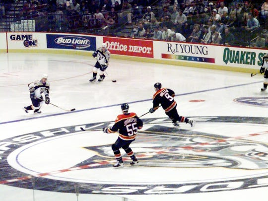 No. 1 Top 10 Sports Events: Full house is on hand for the Nashville Predators inaugural game against Florida Panthers at the Nashville Arena Oct. 10, 1998.