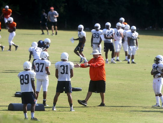 Blackman takes to the field during the first day of