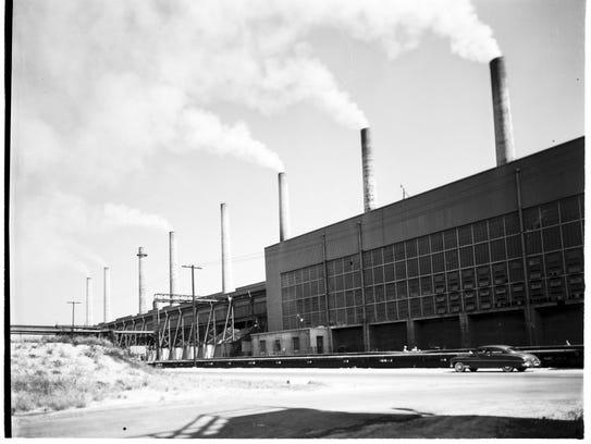 Kaiser Steel Mill in Fontana, CA, 1952.