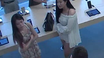 These two women used a stolen credit card to purchase more than $3,000 worth of merchandise from the Apple Store in The Westchester shopping mall, according to authorities.