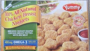 Yummy brand 100% All Natural Chicken Breast Nuggets