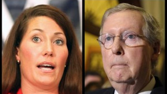 Kentucky Secretary of State Alison Lundergan Grimes and Sen. Mitch McConnell