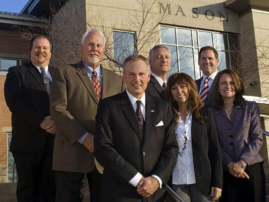 Mason City Council, 2011-2013. From left: Rich Cox, Don Prince, Mayor David Nichols, Vice Mayor Victor Kidd, Char Pelfrey, Tom Grossmann, Barbara Berry-Spaeth.  Photo provided