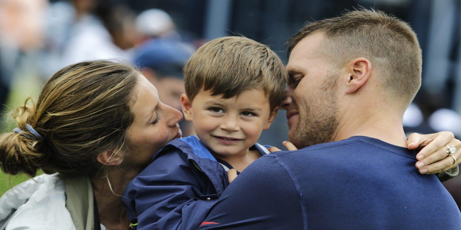 Tom Brady's wife Gisele helped him accept son's disinterest in sports