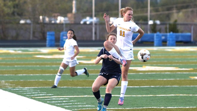 Reynolds senior Christina Shimshock (11) was this past season's Mountain Athletic Conference Offensive Player of the Year for girls soccer.
