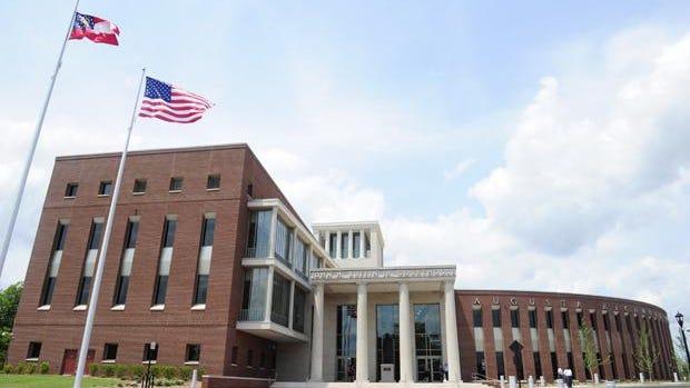 Zach Boyden-Holmes/StaffThe new Richmond County Judicial Center John H. Ruffin Jr. Courthouse at 735 James Brown Blvd. Monday afternoon in Augusta.