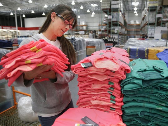 Julie Burmeister, an employee with Costco Wholesale,