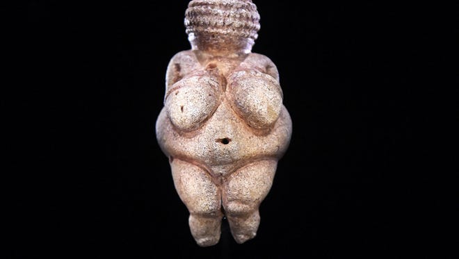 "This undated picture released on Feb. 28, 2018 shows the prehistoric ""Venus of Willendorf"" figurine pictured at the Nature Historical Museum in Vienna, Austria."