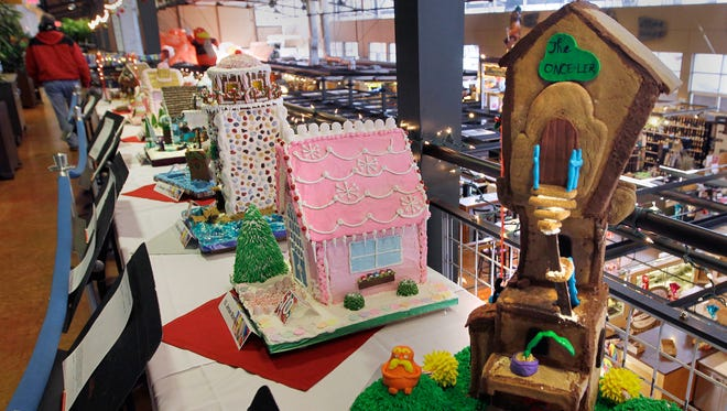 A gingerbread house display is part of the cooking program at  Milwaukee Area Technical College.