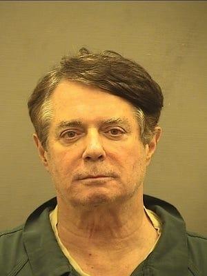 Paul Manafort arrives at Alexandria jail