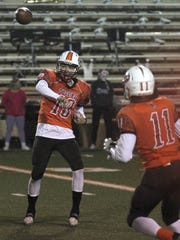 Mansfield Senior's Sid Caudill threw three touchdown passes in Friday's 54-6 victory over Madison.