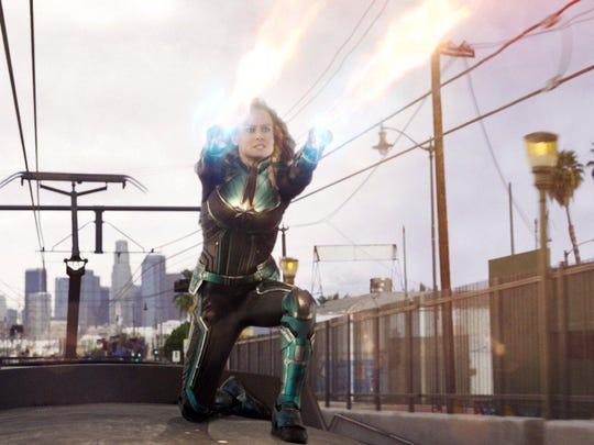 """Brie Larson in """"Captain Marvel."""""""