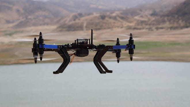 A 3D Robotics' eight-propeller drone is similar to the type sold to Tijuana police.