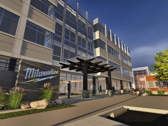 An artist rendering of Milwaukee Tool's expansion to