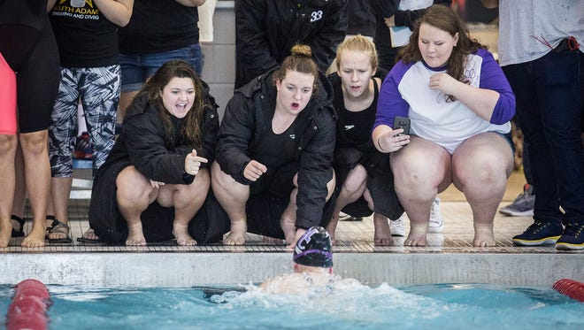 Teams compete in the swimming sectionals at Jay County High School Saturday, Feb. 4, 2017.