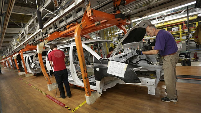 The Dodge Grand Caravan is being built at the Fiat Chrysler Automobiles assembly plant in Windsor, Canada.
