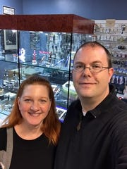 Lisa and Brian Anderson, owners of Anderson's Pen Shop