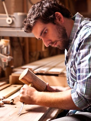 Caleb Woodard's artistry in wood has created a name for himself in the Washington D.C. area.