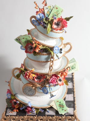 A wedding cake by the KAK Shop.