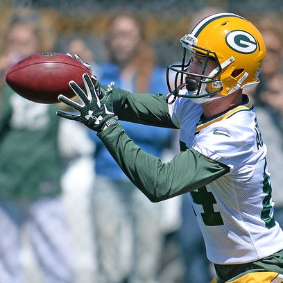 Green Bay Packers receiver Jared Abbrederis during