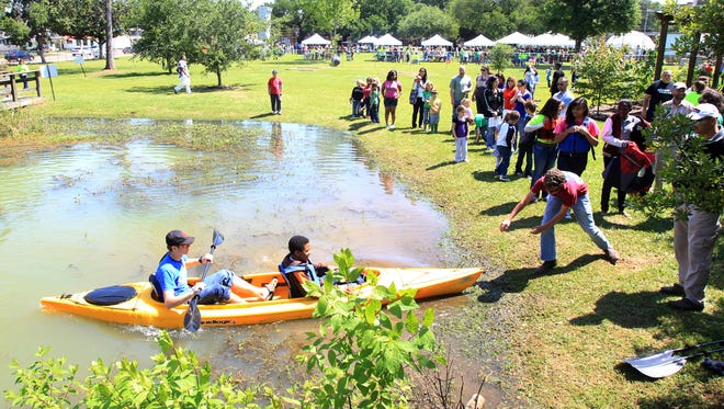 Lafayette Middle School hosts an Earth Day celebration in 2013. It will have a family day on Jan. 16, 2016 to showcase its environmental sciences academy.