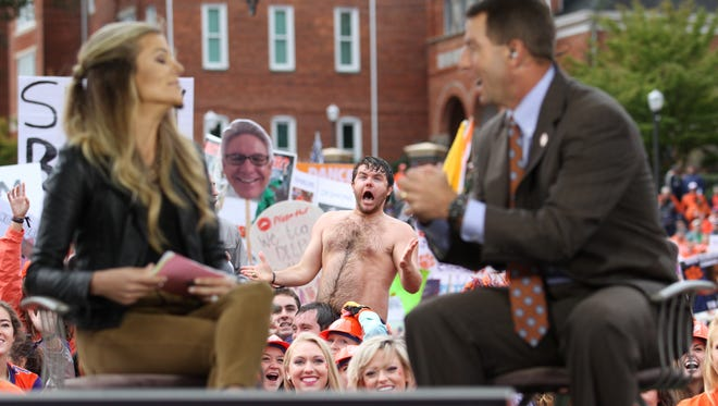 Clemson hosts ESPN College Gameday on Bowman Field prior to their matchup vs. Notre Dame Saturday, October 3, 2015. Dabo Swinney GameDay