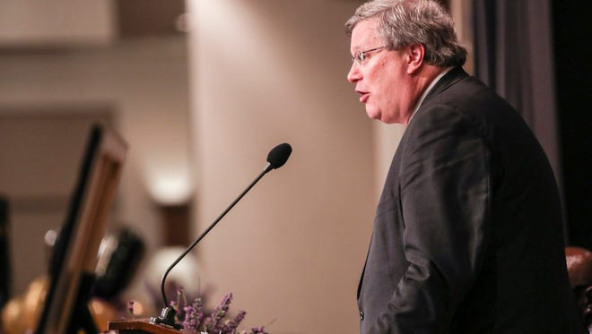 Memphis Mayor Jim Strickland, shown here at LeMoyne-Owen coach Jerry Johnson's 100th birthday banquet, announced on July 19 that he would sever a solid waste contract with Inland Waste following months of delayed collections.