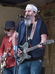 Steve Earle of Steve Earle & The Dukes performs during the 2019 New Orleans Jazz & Heritage Festival 50th Anniversary at Fair Grounds Race Course on April 27, 2019 in New Orleans.
