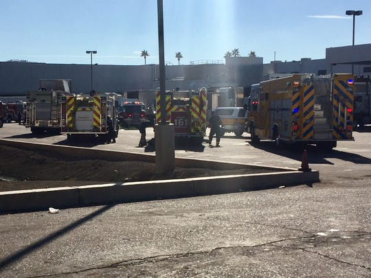 Fire crews from Tolleson and Phoenix were at the scene of a first-alarm reported ammonia leak Nov. 7, 2016, at Sysco Arizona, 611 S. 80th Ave. in Tolleson, fire officials said.