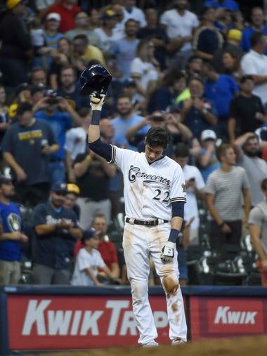 Sept. 17: Milwaukee Brewers left fielder Christian