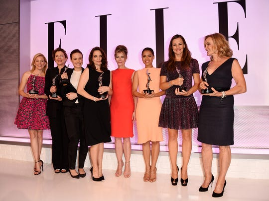 What a group! Honorees Elizabeth Banks,  Annette Bening,