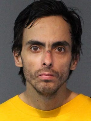 Christopher Steven Sakadales, 32, was booked Jan. 12, 2018 into the Washoe County jail on several charges including robbery with a deadly weapon and possession of drug paraphernalia, among other charges. All arrested are innocent until proven guilty.