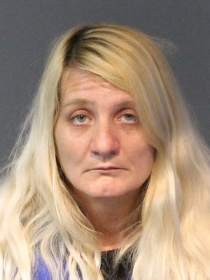 Jennifer Baldwin, 43, was booked Jan. 7, 2018 into the Washoe County jail on murder with a deadly weapon. She was accused of recruiting another man to stab her boyfriend at their home in Reno just days after Christmas. All arrested are innocent until proven guilty.