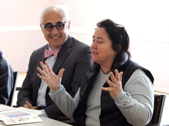 Rockland County Pride Center board member Paul Adler and Paige Koudjis, board chair, at the group's new offices at the former Nyack Elks building April 19, 2017.