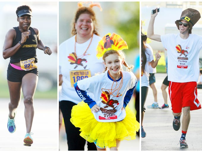Scenes from the 36th annual Turkey Trot  on Thursday