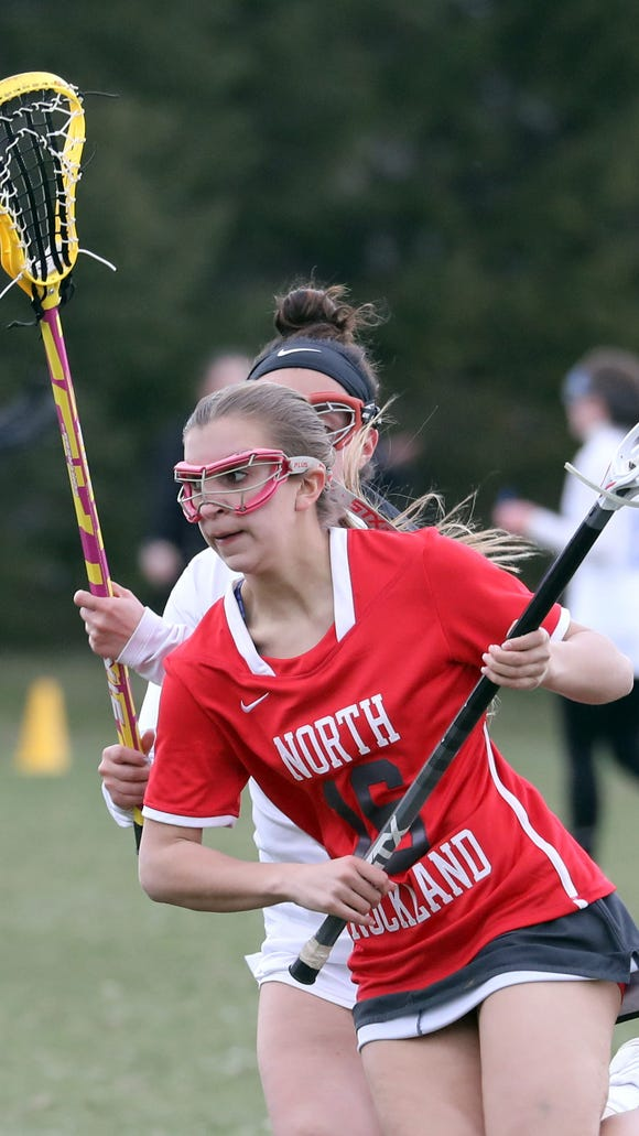 Ashley Morales of North Rockland controls the ball