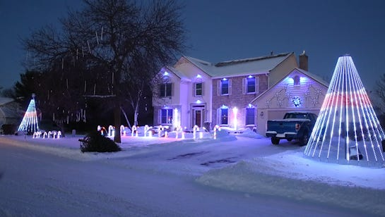 Paul and Mary King spent about 32 hours to set up their Christmas light display.  Jan. 2, 2018