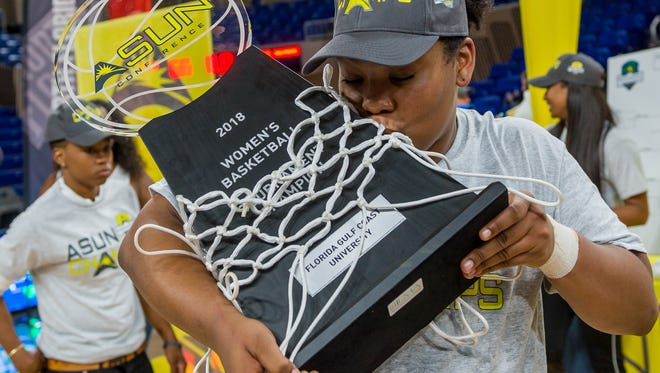 FGCU senior China Dow earned the ASUN tournament MVP trophy in both her Eagles seasons. The former Middle Tennessee Blue Raider and huge fan favorite has come a long way from her Murfreesboro days.