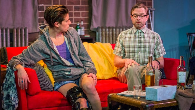 """Cael Barkman and Andrew Butterfield star in the Vermont Stage production of """"Dancing Lessons."""""""