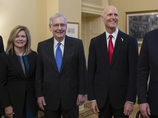 Mitch McConnell,Rick Scott,Marsha Blackburn