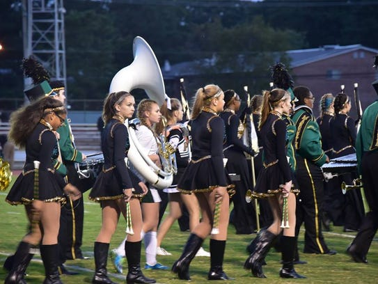 This submitted image is of members of the Warrior Marching