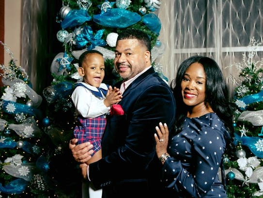 The Flanigans (from left), Karter, Jason and Kisha,