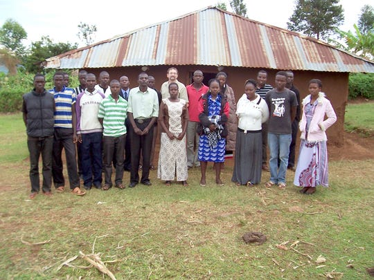 Former residents of Rev. Nyambuoro's orphanage in Kabondo, Kenya. Puzy hopes his solar water heater project will provide them with jobs and better opportunity in a place where both are scarce.