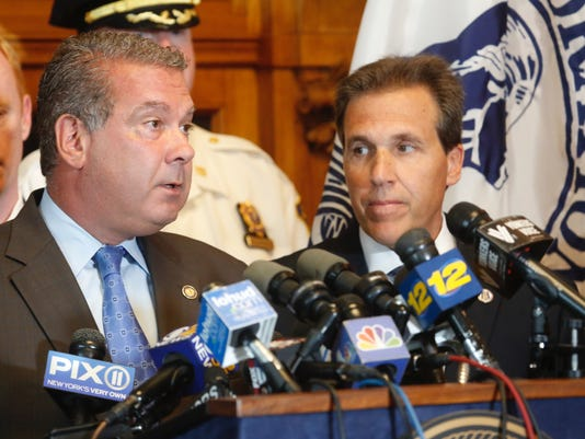 Yonkers Mayor Mike Spano and Police Commissioner Charles Gardner