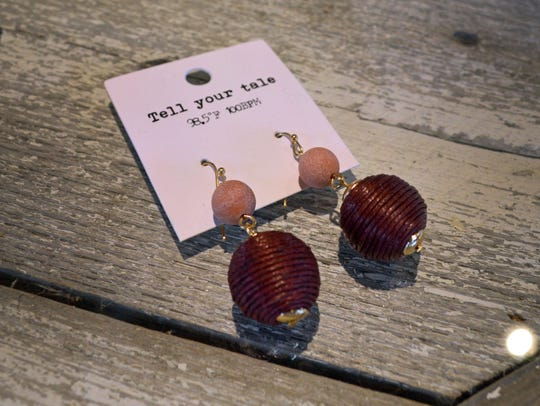 These ball earrings come in a variety of color combinations